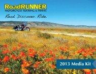 2013 Media Kit - RoadRUNNER Motorcycle Touring & Travel ...