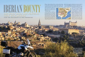 Rider Magazine – April, 2011 - Iberian Moto Tours