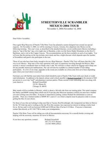 streeterville scrambler mexico 2004 tour - Scramblers.net
