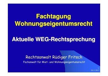 Aktuelle WEG-Rechtsprechung