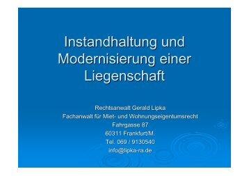 Gerald Lipka - Verband der Immobilienverwalter Hessen eV