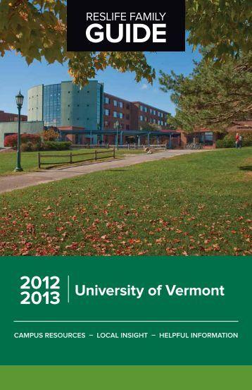 GUIDE University of Vermont 2012 2013 - University Parent