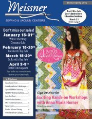 Don't Miss John - Meissner Sewing