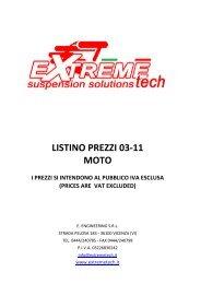 LISTINO PREZZI 03-11 MOTO - MotoRacingShop.com