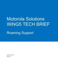 WiNG5 Tech Brief - Motorola Wireless Network Solutions