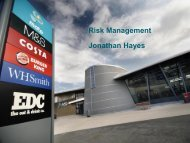 Risk Management Jonathan Hayes