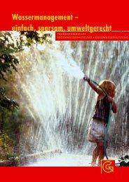 Wassermanagement – einfach, sparsam, umweltgerecht