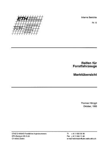Reifen für - Professur forstliches Ingenieurwesen der ETH Zürich