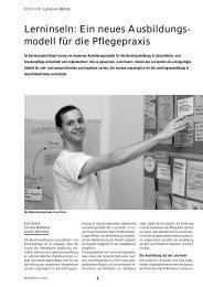 Lerninseln: Ein neues Ausbildungs- modell für die Pflegepraxis
