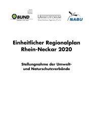 Einheitlicher Regionalplan Rhein-Neckar 2020 - BUND Rhein ...