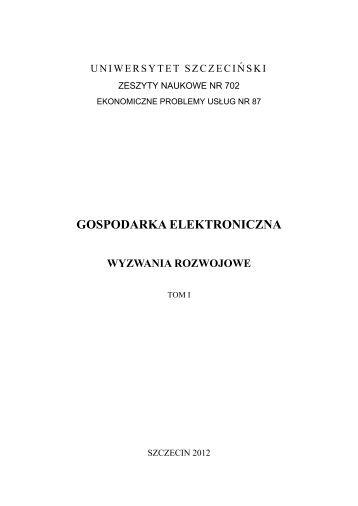 gospodarka elektroniczna - Wydział Zarządzania i Ekonomiki Usług