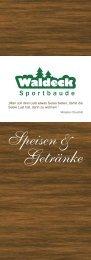Getränke Speisen & - Sportbaude Waldeck
