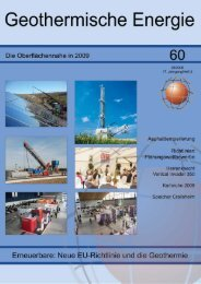 1 Geothermische Energie 60/2008 - Geothermie