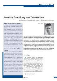 Korrekte Ermittlung von Zeta-Werten - R. Nussbaum AG
