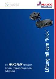 Das MAICOFlex Rohrsystem - MAICO Ventilatoren