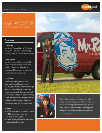 MR. ROOTER - ReachLocal Franchise