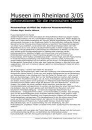 Museumsshops als Mittel des modernen Museumsmarketing
