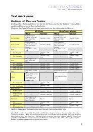 Text markieren - Christian Rogge - Text- und IT-Dienstleistungen
