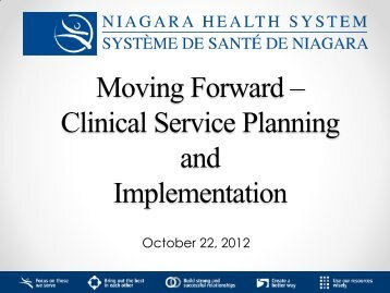 Clinical Service Planning and Implementation - Niagara Health ...