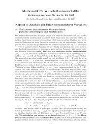 Analysis der Funktionen mehrerer Variablen - Mathematik - Heinrich ...