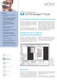 eCTDmanager™ Suite - Extedo