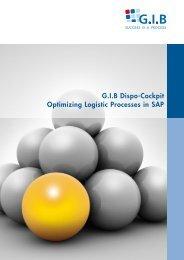 G.I.B Dispo-Cockpit Optimizing Logistic Processes in SAP