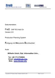 Dokumentation FreD SAP R/3 Add On Version - X-TEAM Consulting ...
