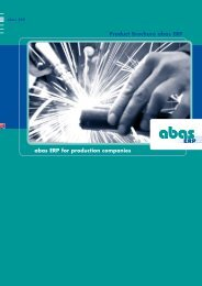 abas ERP for production companies - ABAS Projektierung