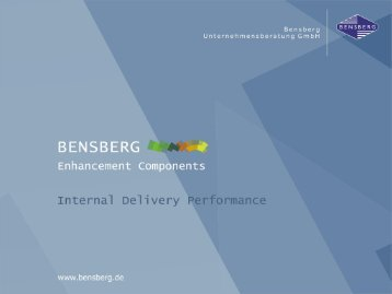 Bensberg GmbH Internal Delivery Performance