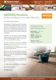 MEISTER-Premiere Seminare bei Discher am 8. und 9 ... - Thalhofer