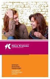 1 Seminare Workshops Begegnungen evangelisch ... - Haus Kreisau