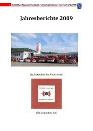 Jahresbericht 2009 FF Alsbach Einsatzabteilung - Feuerwehr Alsbach