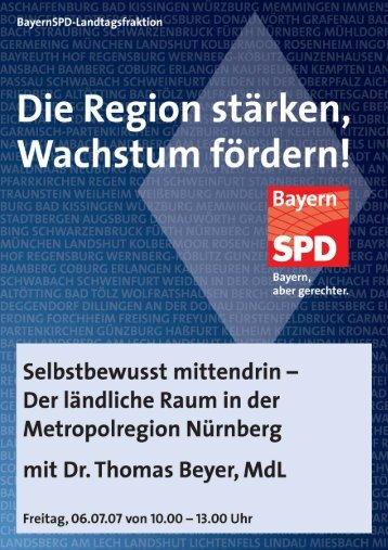 Selbstbewusst mittendrin - SPD-Landtagsfraktion Bayern