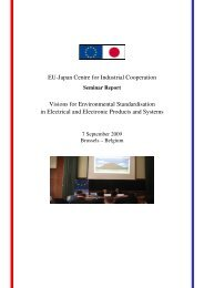CENELEC Environmental Strategy - EU-Japan Centre for Industrial ...
