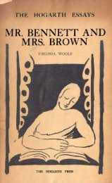 Mr Bennett and Mrs Brown - Virginia Woolf - Columbia University