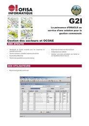 G2I, gestion des secteurs et OCOAE - Logiciels de gestion ...