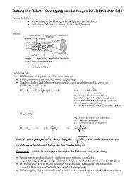 Braunsche Röhre – Bewegung von Ladungen im elektrischen Feld