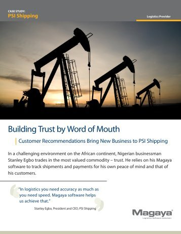 Building Trust by Word of Mouth - Magaya
