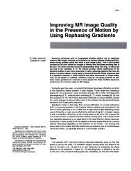 Improving MR Image Quality in the Presence of Motion by Using ...