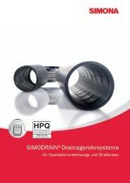 SIMODRAIN® Drainagerohrsysteme - Simona AG