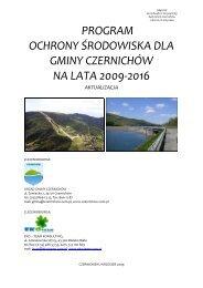 Program Ochrony Środowiska Gminy Czernichów na lata 2009