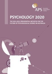 PSYCHOLOGY 2020 - Australian Psychological Society