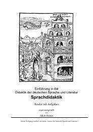 Felder der Sprachdidaktik - Goethe-Universität