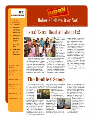 Extra! Extra! Read All About Us!