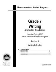 2010 Grade 7 Expository Anchor Set Annotations - Office of ...