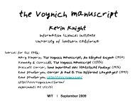 the Voynich Manuscript a mystery - Information Sciences Institute
