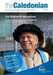 An historic occasion - Glasgow Caledonian University