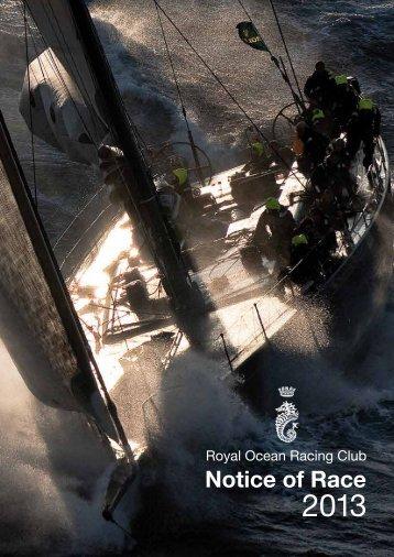 RORC Notice of Race - Royal Ocean Racing Club