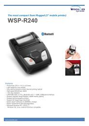 Woosim Releases Mobile Printer Catalog - Switches Plus Components
