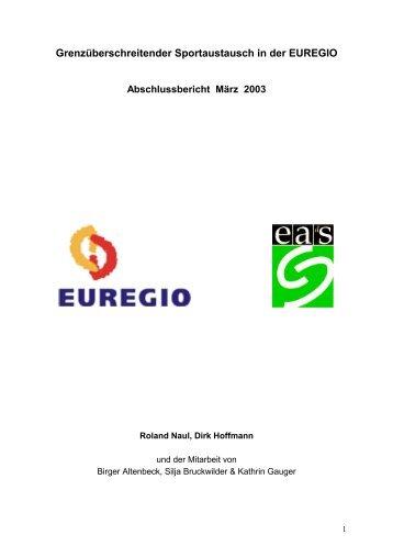 Band 21 Grenzüberschreitender Sportaustausch in der Euregio 2003